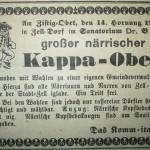 Erste (bekannte) Anzeige des Dörfleobe 1928